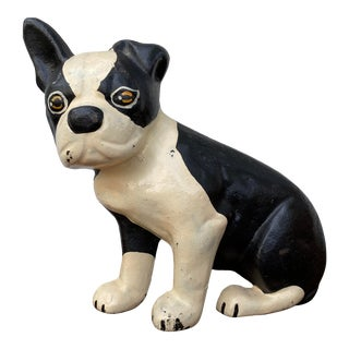 Boston Terrier Cast Iron Doorstop For Sale