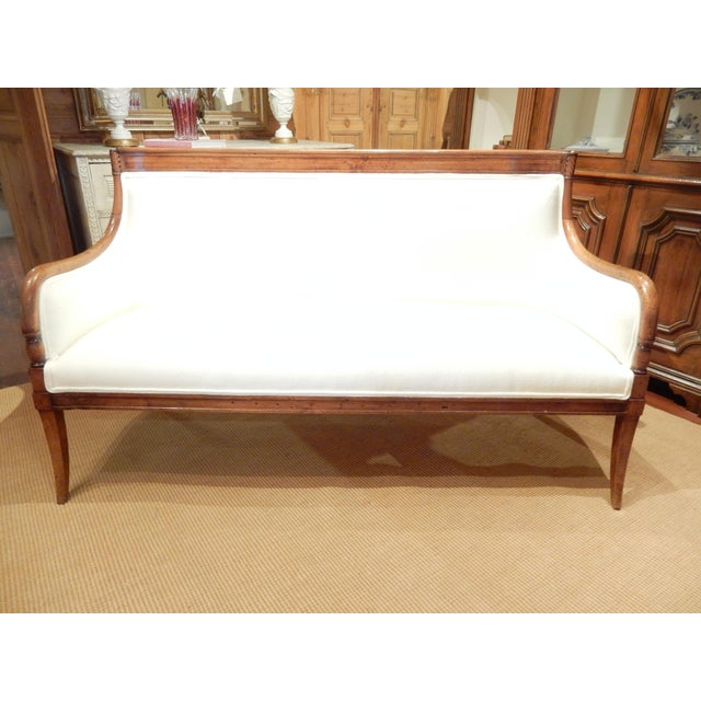 White Neo-Classical Italian Walnut Settee For Sale - Image 8 of 8