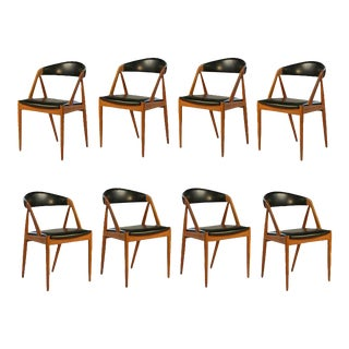 1960s Kai Kristiansen Teak Dining Chairs - Set of Eight For Sale