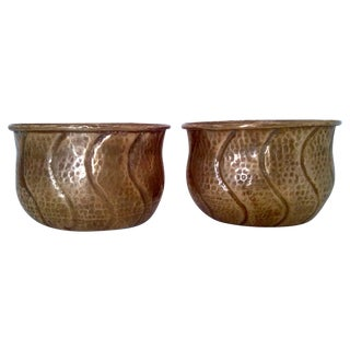 Vintage Indian Brass Planters/Cachepots For Sale