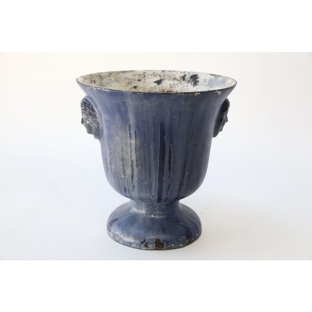 Cast Iron Enamel Rouen Urn For Sale - Image 4 of 10
