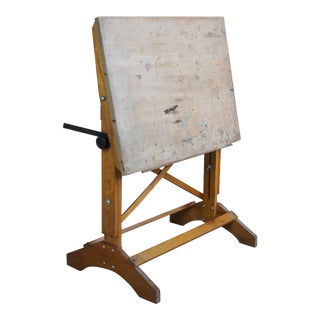 Hamilton Adjustable Industiral Drafting Easel Architectural Drawing Table For Sale