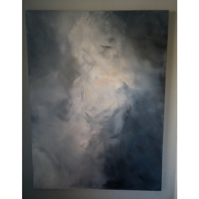 "Kris Gould ""Whispering Clouds"" Original Abstract Painting - Image 3 of 5"
