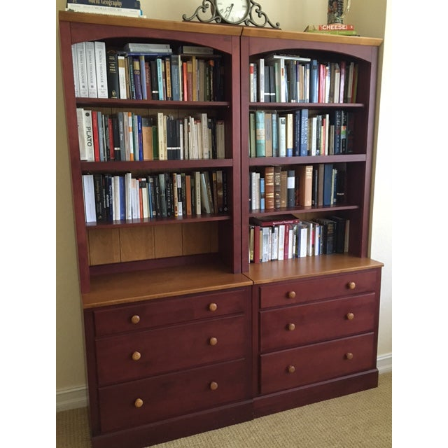 Ethan Allen Country Colors Collection Bookcase Chests- A Pair For Sale - Image 6 of 6