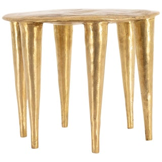 Bronze Zindi Side Table by Charlotte Thon & Marc Boinet For Sale