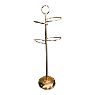 Vintage Brass Hand Towel Stand For Sale