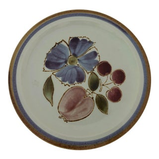 """Midcentury Style International Stoneware 12""""d Serving Plate For Sale"""