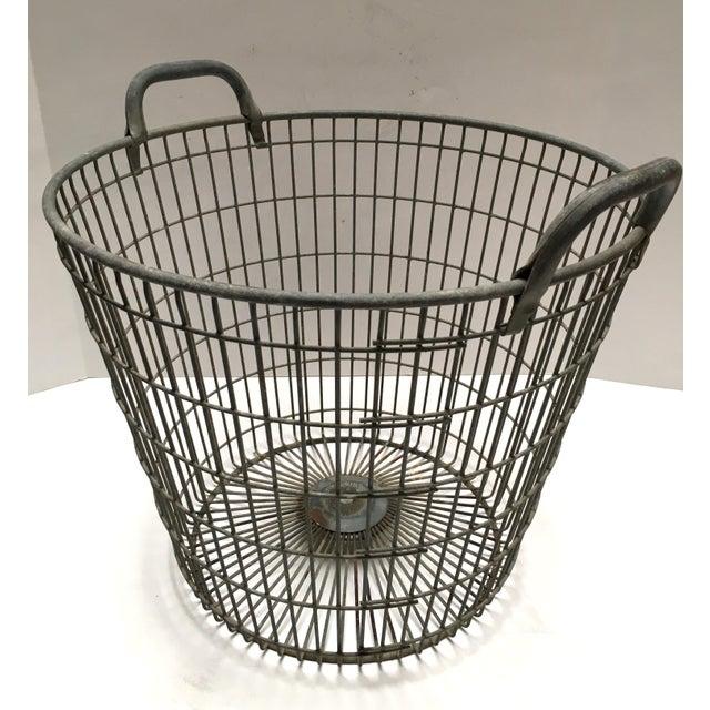 Vintage Belgian Metal Potato Basket - Image 4 of 6