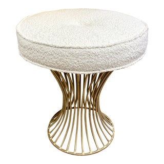 Mid-Century Modern Boucle Stool For Sale