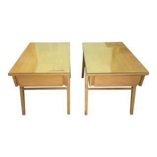 Dillingham Grey Elm Mid-Century Modern 1950's End Tables - A Pair