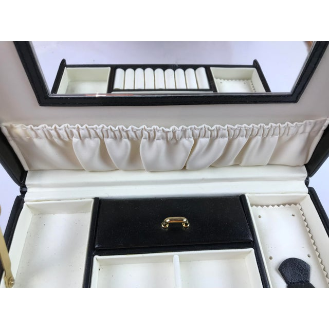 Black Leather Train Case For Sale - Image 11 of 13