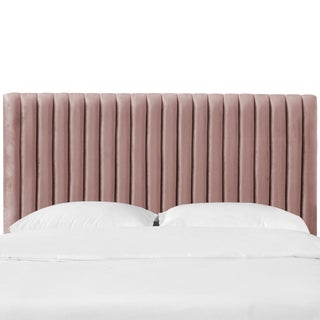 California King Channel Headboard in Majestic Mahogany Rose For Sale