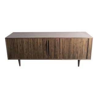 Handcrafted Tambour Credenza For Sale