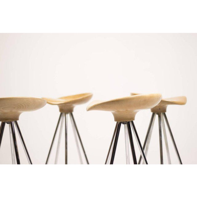 "1990s ""Jamaica"" Bar Stools by Pepe Cortés with Solid Beech Seats For Sale - Image 5 of 6"