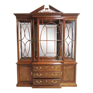 Thomasville Flame Mahogany China Cabinet For Sale