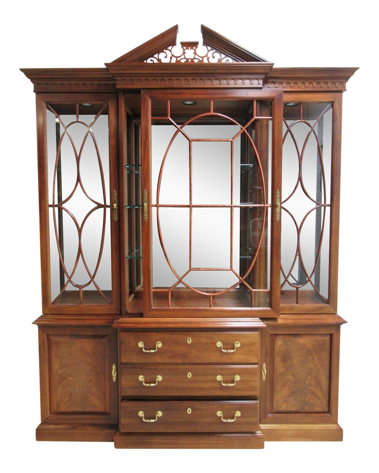 Thomasville Flame Mahogany China Cabinet