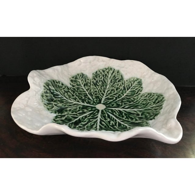 Mediterranean Bordallo Pinheira Cauliflower Majolica Bowl For Sale - Image 3 of 10