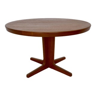 1960s Danish Modern Teak Dining Table For Sale