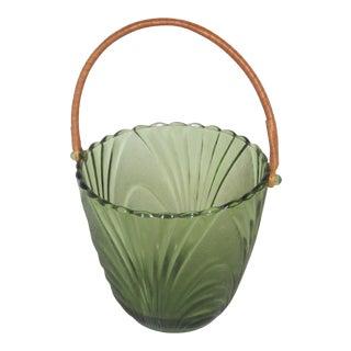 1950s Art Deco Glass Ice Bucket For Sale