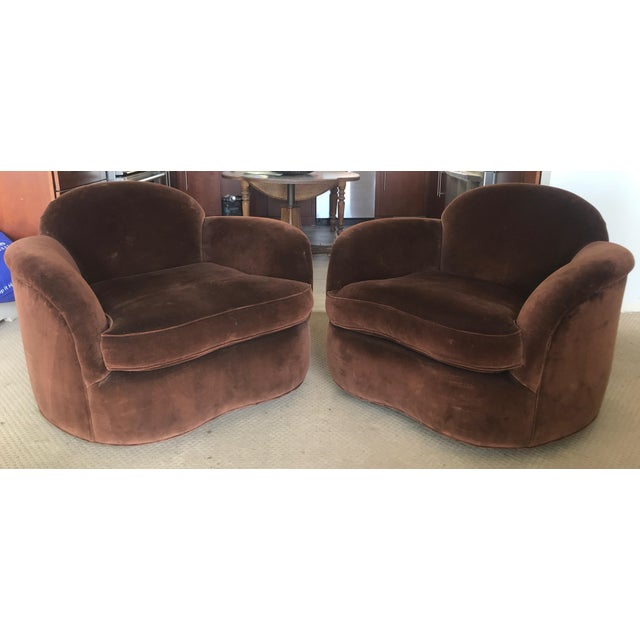 2010s Custom Made Club Chairs - a Pair For Sale - Image 5 of 5