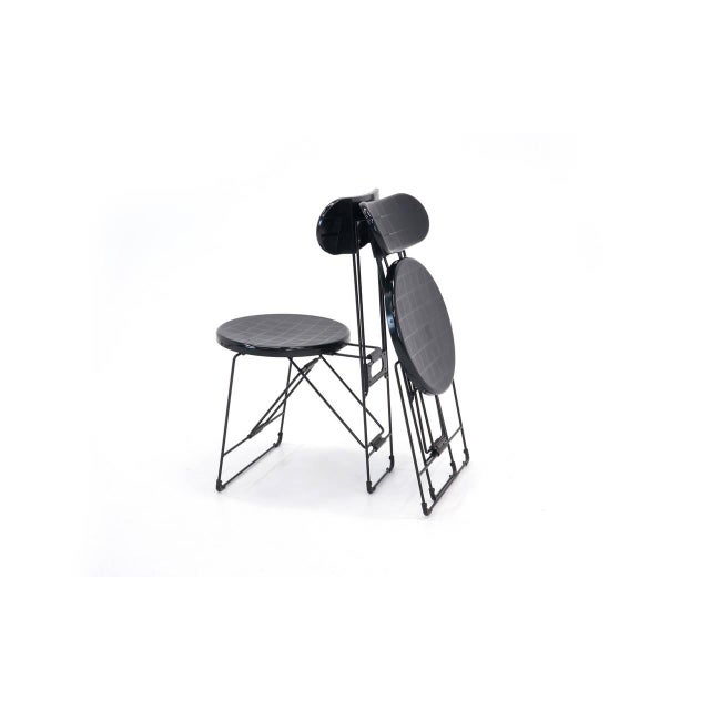 1980s Set of 6 Cricket Folding Chairs by Andries Van Onck & Kazuma Yamaguchi for Magis For Sale - Image 5 of 10