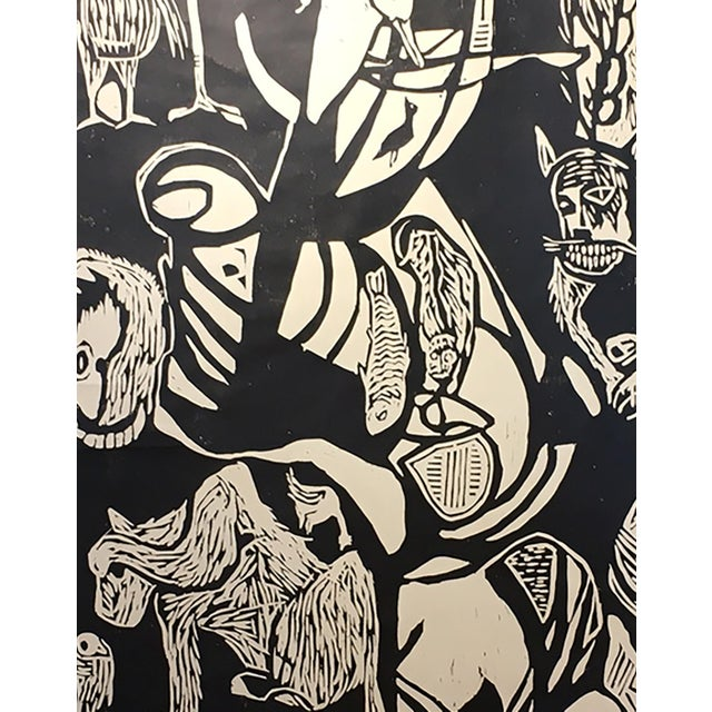 "Clay Walker ""Constant Threat - Dog Eats Cat"" Woodcut Print - Image 3 of 4"