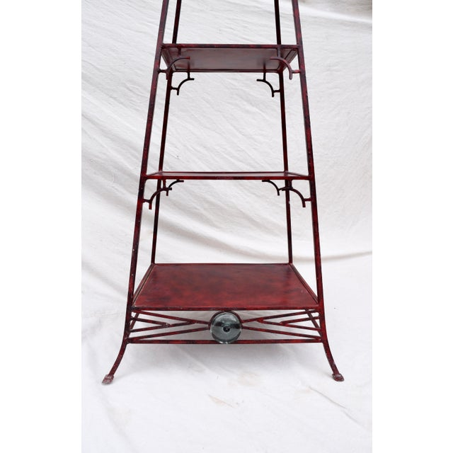 Palecek Iron Chinoiserie Pagoda Etagere by Palecek For Sale - Image 4 of 9