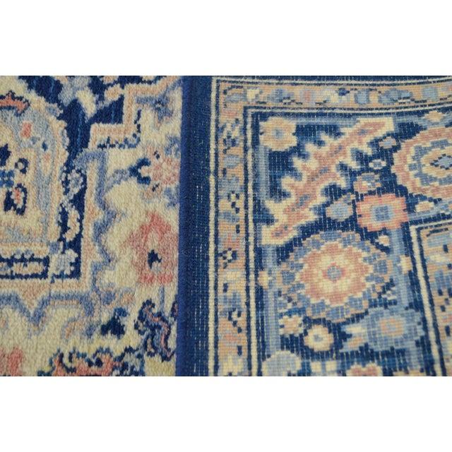 Karastan 4.3' x 6' Blue Heriz Area Rug #748 For Sale - Image 9 of 13