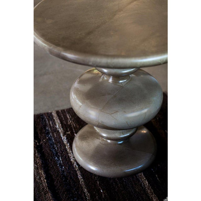 1970s Pair of Goatskin Side Tables in the Manner of Aldo Tura For Sale - Image 5 of 12