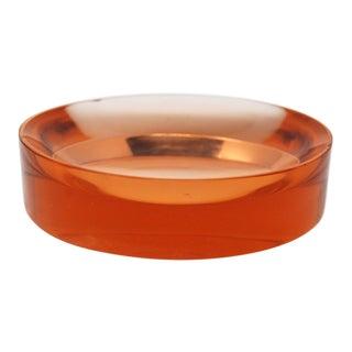 Round Glass Dish Attributed to Fontana Arte