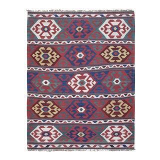 """""""Primary Colors,"""" Antique Kazak Kilim"""