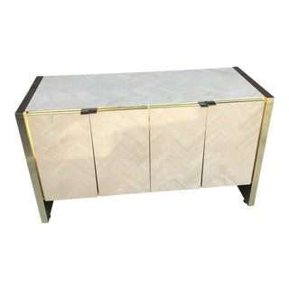 Ello Travertine Chevron Credenza