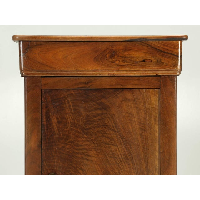 3f123ceffb Antique French Louis Philippe Walnut Nightstand For Sale - Image 4 of 9