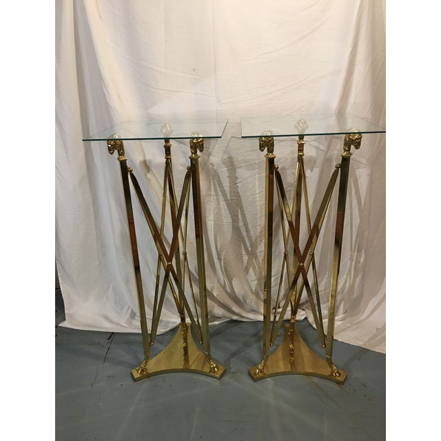 Brass Stands in the Maison Jansen Style With Sheep's Heads - a Pair For Sale - Image 12 of 12
