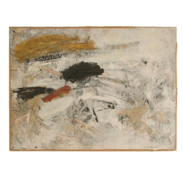 Mid 20th Century Abstract Oil Painting by Newton Haydn Stubbing For Sale - Image 13 of 13