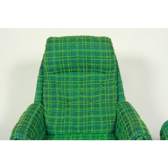 Gote Mobler Nassjo Plaid Lounger Chair And Ottman Chairish