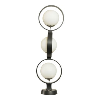 Modeline Mid Century Modern Stacking Rings, 3 Globe Table Lamp For Sale