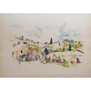 Large 1959 Landscape Lithograph Print by Paul Cézanne