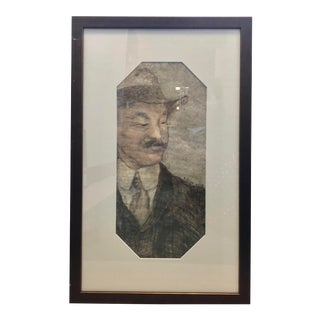 """""""Photographers Assistant"""", Framed Mixed Media Portrait For Sale"""