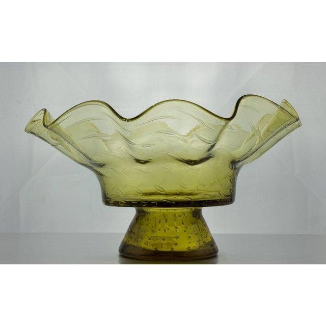 Ruffled Shape Blenko Bowl - Image 3 of 10