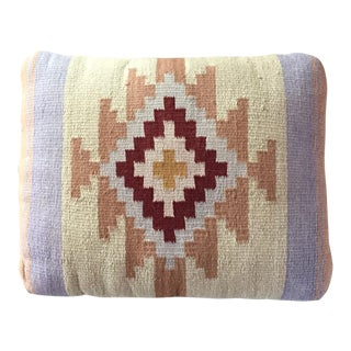 Southwestern Rug Wool & Canvas Pillow For Sale