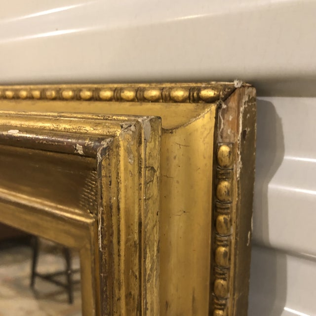 Traditional 19th Century Regency Period Frame Mirror Ivy Frond Corners For Sale - Image 3 of 6