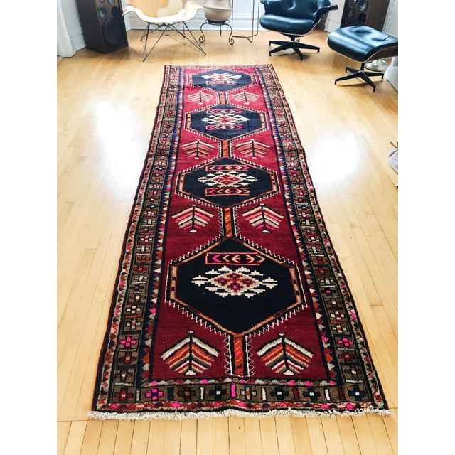 Antique Persian Wool Rug - 3′1″ × 12′2″ - Image 2 of 5