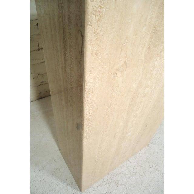 Artedi Elegant Travertine Console Table by Artedi For Sale - Image 4 of 9