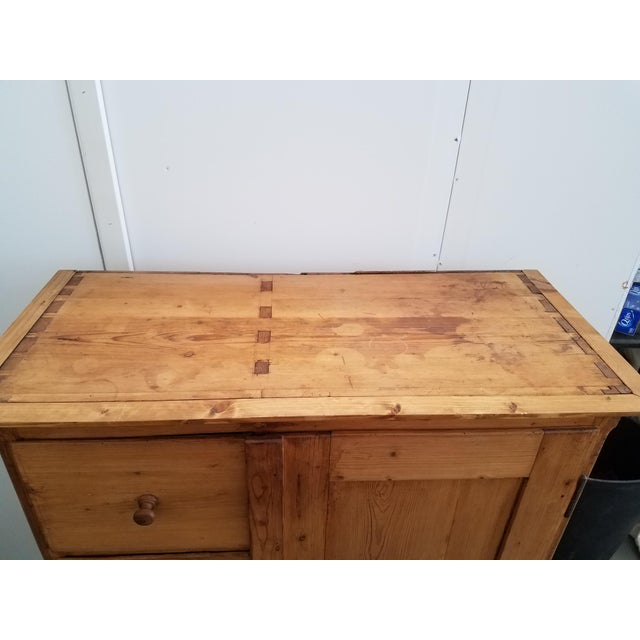 Antique Pine Food Cupboard With Key For Sale In Dallas - Image 6 of 13