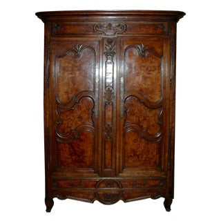 Vintage Country French Armoire For Sale