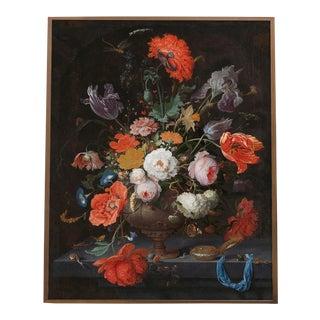Painted Flower Bouquet Dutch Floral Still Life Print For Sale