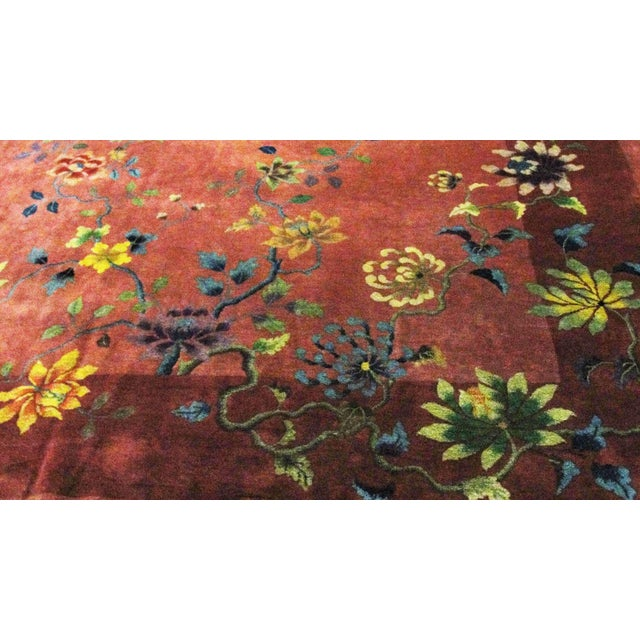 """Early 20th Century Antique Art Deco Chinese Oriental Rug-8'8""""' X 11'3"""" For Sale - Image 5 of 10"""