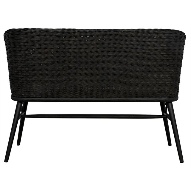 Black Curba Loveseat, Charcoal Black For Sale - Image 8 of 9