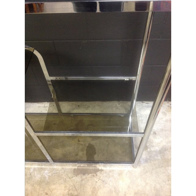 Chrome And Smoked Glass Etagere - Pair - Image 7 of 7